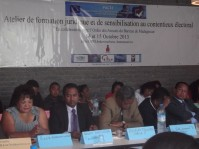 Voter sensitization on the use of single ballot, Madagascar - PACTE Project - 21 Septembre 2013
