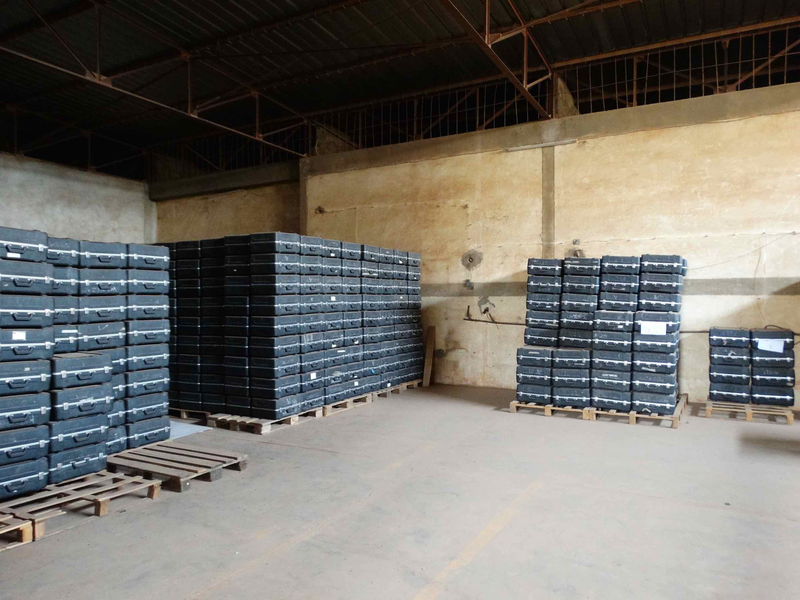 Visit to the INEC's Central Warehouse (PACTE-BF) I Ouagadougou, Burkina Faso I 27 July 2015