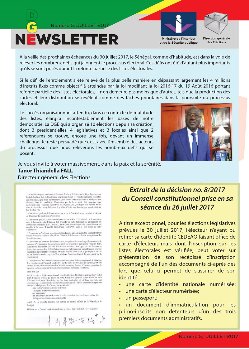 PAPES Bulletin d'Information N° 5