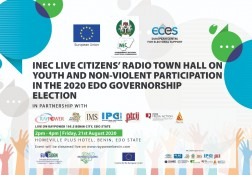 Live Radio Phone on Youth & Non Violent Participation in Edo Elections - 21.08.20