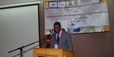 PEV-SADC | LEAD Training | Zambia 22-26 Sept 2014